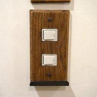 スイッチカバー wood iron tray 2口
