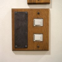 スイッチカバー wood paste magnet 2口