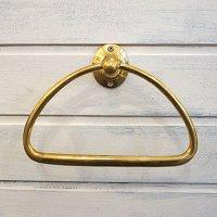 真鍮トライアングルタオルホルダー ゴールド
