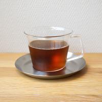 ガラスカップ&ソーサー(ステンレス)