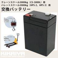 交換バッテリー クレーンスケール 3000kg 用 (CS-3000L 用) 【 送料無料 】