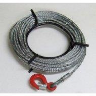 ワイヤーロープ 10m巻 フック付 ハンドウインチ ウィンチ 万能携帯ウインチ 800kg用 【 送料無料 】