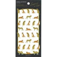 NOBLE JOURNEY sticker leopard&tiger