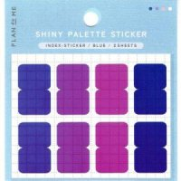 SHINY PALETTE STICKER インデックスステッカーBlue