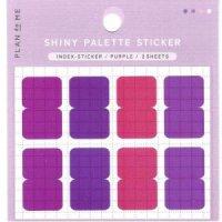 SHINY PALETTE STICKER インデックスステッカーPurple