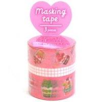 マスキングテープ−アソート− Pink Cafe【ゆうパック発送のみ】