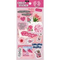 CHOICY STICKER something pink<img class='new_mark_img2' src='https://img.shop-pro.jp/img/new/icons12.gif' style='border:none;display:inline;margin:0px;padding:0px;width:auto;' />
