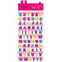 Colorful animalシール アルファベット