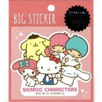 【耐水・耐光】BIG STICKER サンリオキャラクターズ