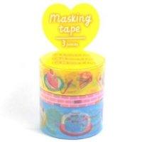 マスキングテープ−アソート− Rainbow Cafe【ゆうパック発送のみ】