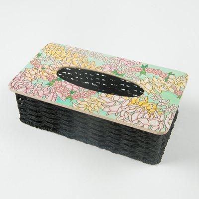 【Hawaiianpaint KAN】ティッシュボックス ブループルメリア