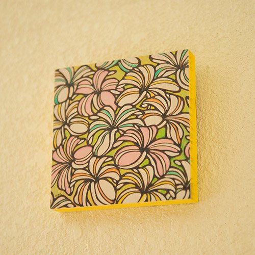 hawaiian paint kan プリントアート ストライププルメリア