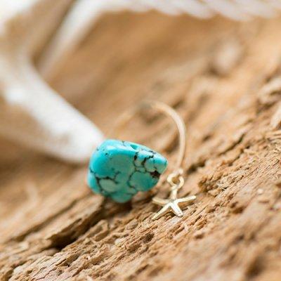 【Lanimall】14kgf Starfish stone リング turquoise