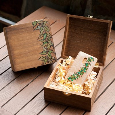 【Hawaiianpaint KAN】 木のBOX・マイレレイ