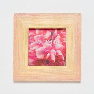 【Hawaiian Paint KAN】 プリントアート 【ピンクプルメリアALOHA】 シングルフレーム