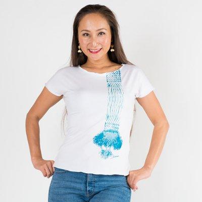 【Sabado】サバドデザイン ストレッチTシャツ(ラウハラ) ホワイト