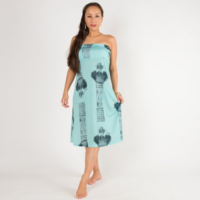 【Sabado】サバドデザイン 2Wayドレス (ラウハラ)ターコイズ