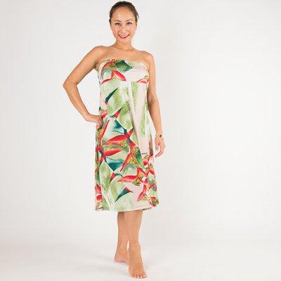【Sabado】サバドデザイン 2Wayドレス (ヘリコニア)ピンクベージュ