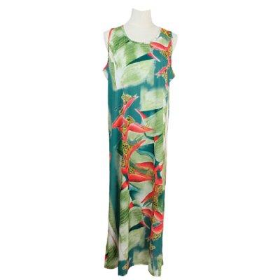 【Sabado】サバドデザイン Aラインドレス (ヘリコニア)ブルー