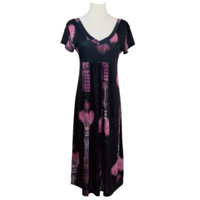 【Sabado】サバドデザイン Vネックドレス (ラウハラ)ブラック