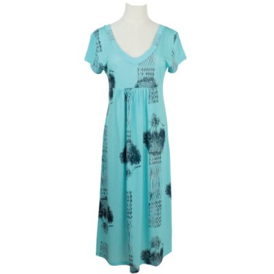 【Sabado】サバドデザイン Vネックドレス (ラウハラ)ターコイズ