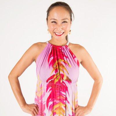 【Sabado】サバドデザイン バックリボンドレス (レッドジンジャー)ピンク