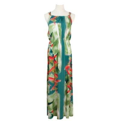 【Sabado】サバドデザイン バックリボンドレス (ヘリコニア)ブルー