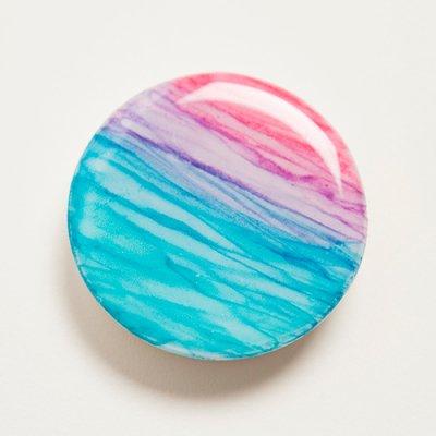 【Luana Ocean Art・ルアナオーシャンアート】  スマートフォンクリップ・サンセットブルーピンク