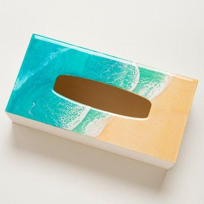 【Luana Ocean Art・ルアナオーシャンアート】  ティッシュボックス・ラニカイグリーン