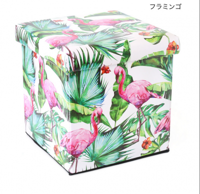 <img class='new_mark_img1' src='https://img.shop-pro.jp/img/new/icons25.gif' style='border:none;display:inline;margin:0px;padding:0px;width:auto;' />【tropical collection】収納BOXスツール フラミンゴ