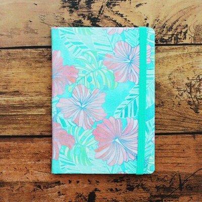 ハワイ手帳ミニ2021ファブリック(Water Hibiscus)