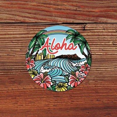 HLC ステッカー Sサイズ(Town of Hawaii)【 TAMO 】