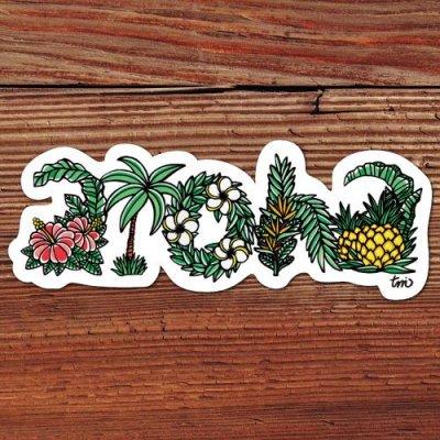 HLC ステッカー Sサイズ(aloha letters)【 TAMO 】