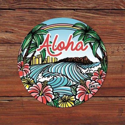HLC ステッカー Lサイズ(Town of Hawaii)【 TAMO 】