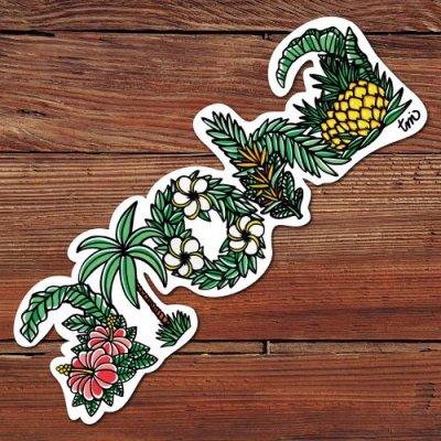 HLC ステッカー Lサイズ(aloha letters)【 TAMO 】