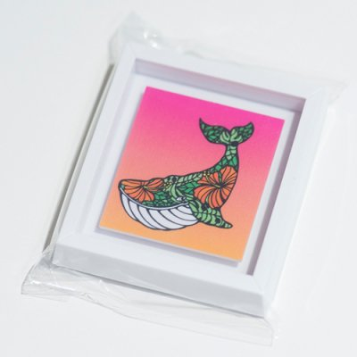 HLC ミニアートマグネット(Whale Hibiscus)【 TAMO 】