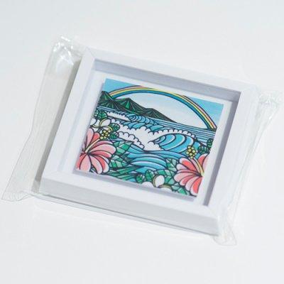 HLC ミニアートマグネット(Rainbow Hibiscus)【 TAMO 】
