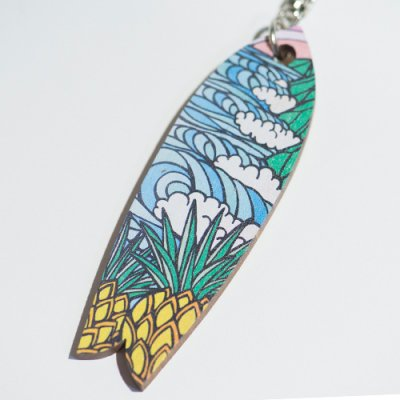 HLC キーホルダー SURFBOARD(Pineapple Surf)【 TAMO 】