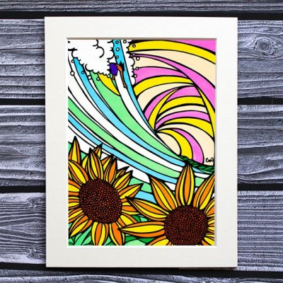 TAMO アートプリント 260×348mm(Sunflower)
