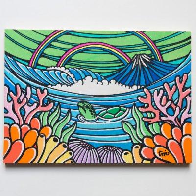 TAMO原画 オリジナルアート 297×420mm(Coral Honu)