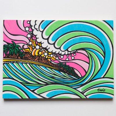 TAMO原画 オリジナルアート 297×420mm(Back Door)