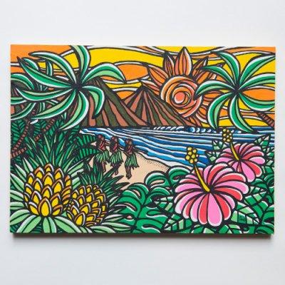 TAMO原画 オリジナルアート 297×420mm(Wakiki Hula)