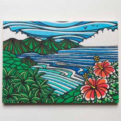 TAMO原画 オリジナルアート 297×420mm(Avobe the Ocean)