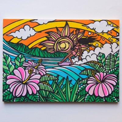 TAMO原画 オリジナルアート 297×420mm(SurfGirl)