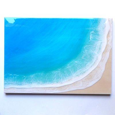 【Luana Ocean Art・ルアナオーシャンアート】  A2アート #20・マケナグリーン
