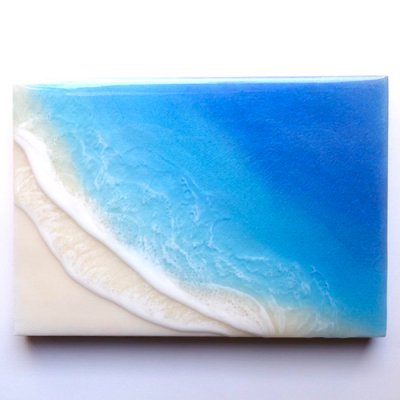 【Luana Ocean Art・ルアナオーシャンアート】  A5 アート #63・ホノルアブルー