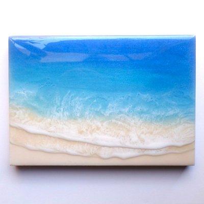 【Luana Ocean Art・ルアナオーシャンアート】  A5 アート #62・ホノルアブルー