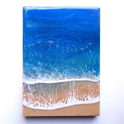【Luana Ocean Art・ルアナオーシャンアート】  A5 アート #46・ホノルアブルー