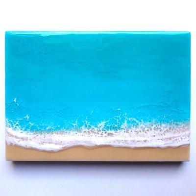 【Luana Ocean Art・ルアナオーシャンアート】  A5 アート #45・ラニカイグリーン