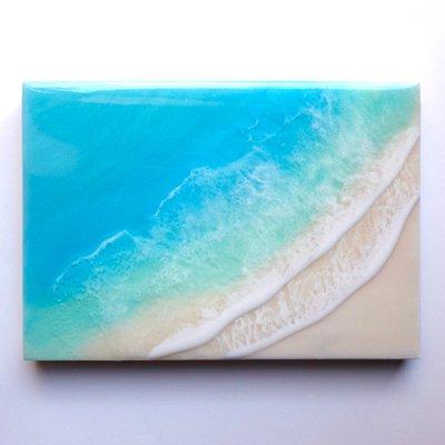 【Luana Ocean Art・ルアナオーシャンアート】  A5 アート #59・ラニカイグリーン